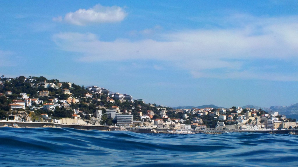 Marseille view from the water
